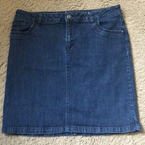 LIZ CLAIBORNE STRETCH DENIM PENCIL SKIRT
